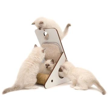 Vesper貓用實木家具 HAGEN52072 三用途遊戲台白色 -寵物用品-寵物玩具-貓玩具-貓家具-毛毛恰恰寵物用品